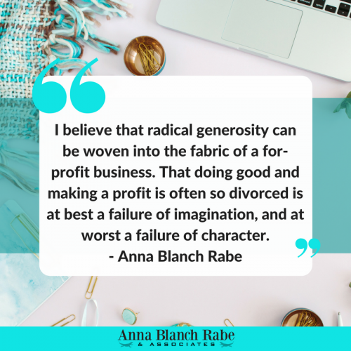 radical generosity Anna Rabe media kit
