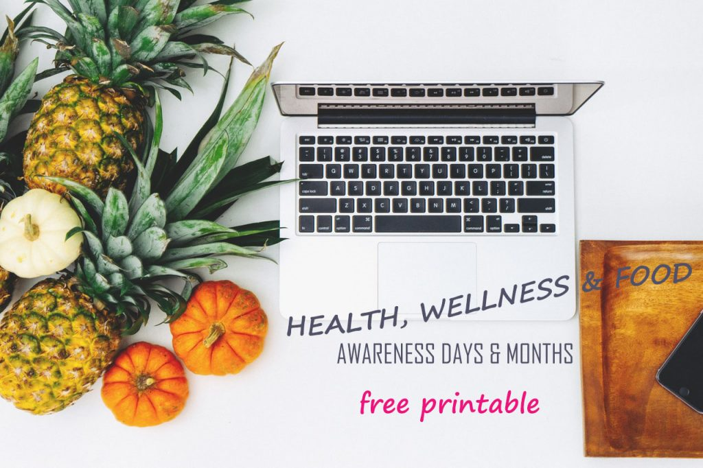 health-wellness-food-related -awareness days-pinnable