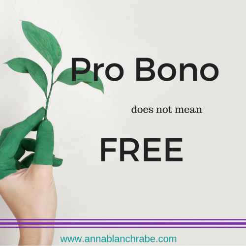 pro bono does not mean free anna blanch rabe radical generosity